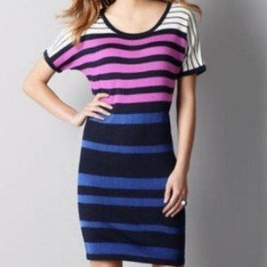 Ann Taylor LOFT Wool Striped Sweater Dress Sz XL